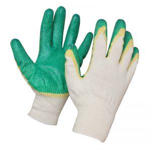 перчатки трикотажные двойной латекс
