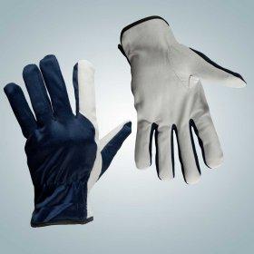 перчатки из качественной кожи комбинированные