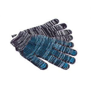 перчатки хб с ПВХ усиленные для работы с металлом