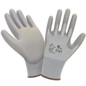 Перчатки нейлоновые с полиуретановым покрытием (покрытие пальцев и ладони)