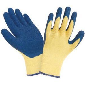 перчатки с рельефным латексным покрытием для работ со стеклом