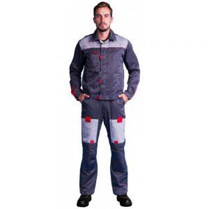 немаркий костюм фаворит из ткани твил с наколенниками и налокотниками