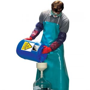 Фартук Ansell уплотненный из ПВХ для защиты от продуктов нефтепереработки, масел, жиров, лаков и красок на их основе