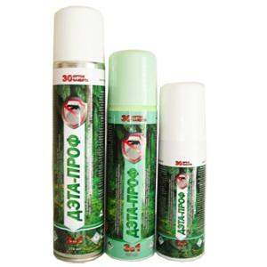 аэрозоль, крем от комаров, мошки и клещей