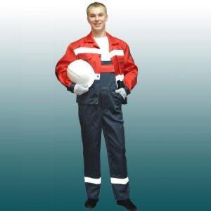 костюм с СВП темно-синий с красным