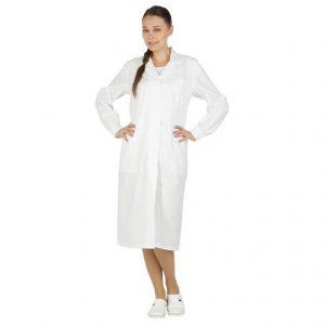 Халат женский белый из х/б ткани