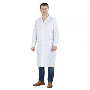 Халат мужской белый из х/б ткани