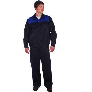 доступный костюм с полукомбинезоном синий с васильком