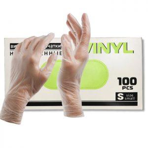 Перчатки виниловые (50 пар)